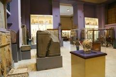 Inom det egyptiska museet Royaltyfria Bilder