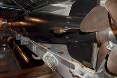 Inom det förorsaka kramp i utrymmet av USS Pompanito, SS-383, 9 Royaltyfri Foto