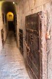 Inom det gamla fängelset under Doge&en x27; s-slott i Venedig - Italien Arkivbilder