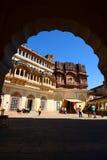 Inom det Mehrangarh fortet Jodhpur Rajasthan india Royaltyfria Foton