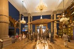 Inom det oceanografiska museet av Monaco Royaltyfri Fotografi