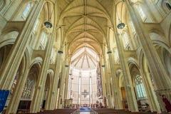 Inom domkyrkakyrkan av St Paul Dunedin, Nya Zeeland Arkivfoto