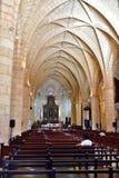 Inom domkyrkan av Santo Domingo Arkivbilder