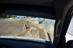 Inom en bil under en händelse 4x4 Arkivfoton