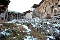 Inom en fästningbyggnad Royaltyfri Foto