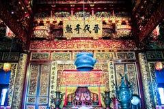 Inom en kinesisk tempel Royaltyfri Foto