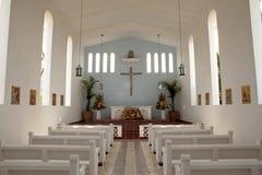 Inom en kyrka Baja arkivbilder