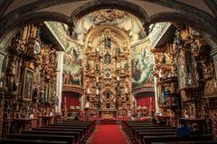 Inom en kyrka historisk mitt, Mexico - stad, Mexico Royaltyfri Foto