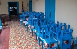 Inom en skola i havannacigarr Kuba royaltyfri foto