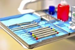 Inom en tandläkareambulans Arkivbilder