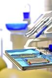 Inom en tandläkareambulans Fotografering för Bildbyråer