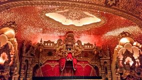 Inom en teater Royaltyfria Foton