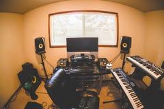 Inom ett modernt hem- studiorum Arkivbilder