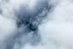 Inom ett moln sikt på ett moln från ett flygplan, foto tagen fr Royaltyfria Bilder