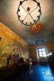 Inom ett offentligt ställe i medeltida stad av Sighisoara Royaltyfri Fotografi