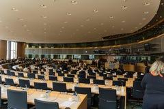 Inom Europaparlamentet Royaltyfria Bilder