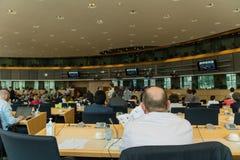 Inom Europaparlamentet Arkivbilder