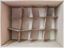 Inom förpackande fyrkant för brun ask Royaltyfri Fotografi