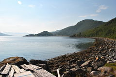 Inom fjordarna av Norge fotografering för bildbyråer