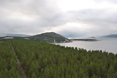Inom fjordarna av Norge royaltyfri fotografi