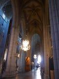 Inom gotisk kyrka i Uppsala Royaltyfri Fotografi