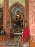 Inom härlig gammal kyrka Litauen arkivbild