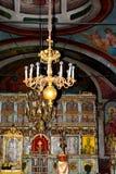 Inom kyrka av den Suzana kloster Fotografering för Bildbyråer