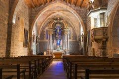 Inom kyrka av Gruissan Notre Dame de ` L antagande Royaltyfri Bild