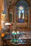 Inom kyrka av Gruissan Notre Dame de ` L antagande Royaltyfria Bilder