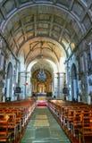 Inom kyrka av Loios i Santa Maria da Feira Arkivbild