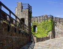 Inom medeltida ett slott väggar Royaltyfri Fotografi