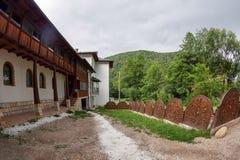 Inom området som är hängivet till den Prislop kloster, Rumänien Royaltyfri Bild