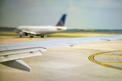 Inom platser för ett kommersiellt flygbolag Arkivbilder