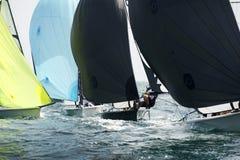 Inom regattan Royaltyfria Bilder