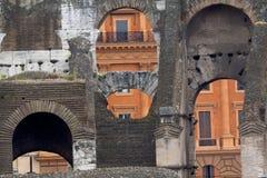 Inom Roman Coliseum Rome, Lazio, Italien Royaltyfria Bilder