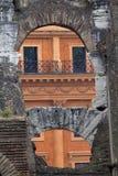 Inom Roman Coliseum Rome, Lazio, Italien Arkivfoto