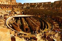 Inom Roman Colosseum Arkivbild