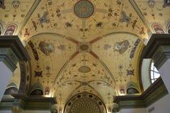 Inom rummet dekoreras i stilen av det 19th århundradet Arkivbild