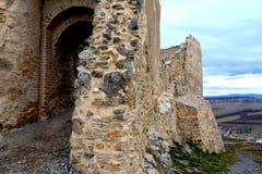 Inom Rupea Reps, fästning Medeltida spår Transylvania Rumänien Royaltyfria Bilder