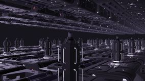 Inom rymdskeppdesignen 1920x1080 Framtida kraftverk vektor illustrationer