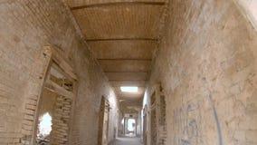 Inom sikt av rum i det Derawar fortet Bahawalpur stock video