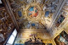 Inom slotten eller Palazzoen Ducale för doge` s i Venedig Royaltyfria Bilder