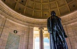 Inom Thomas Jefferson Memorial Washington, DC Royaltyfri Foto