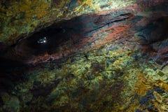 Inom vulkan Arkivfoto