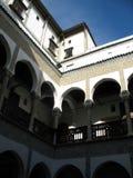 Inomhus av den algerierCasbah villan Arkivfoton