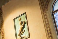 Inomhus av den Palazzo dellaen Ragione i Verona Arkivfoton