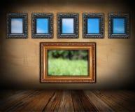 Inomhus bakgrund för konst Fotografering för Bildbyråer