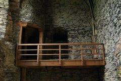 Inomhus balkong Fotografering för Bildbyråer