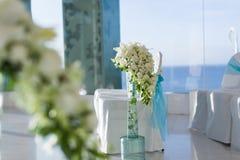 Inomhus bröllopplats arkivfoto