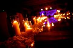 Inomhus bröllopplats fotografering för bildbyråer